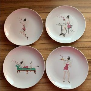 Macy's Holiday Fairy Dessert Plates Collectibles